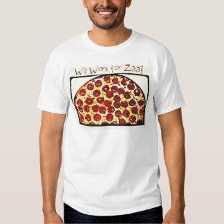 Trabajará para la pizza remera