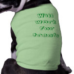 Trabajará para las invitaciones ropa perro