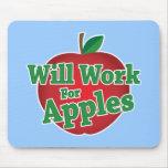 Trabajará para las manzanas tapetes de ratón
