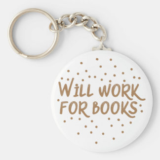 trabajará para los libros llavero redondo tipo pin