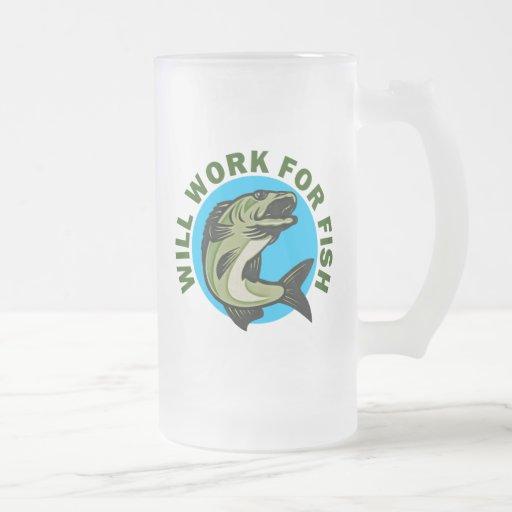 Trabajará para los pescados tazas de café