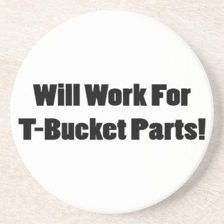Trabajará para los regalos de Tbucket de las pieza Posavaso Para Bebida