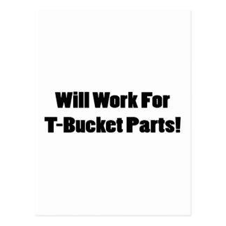Trabajará para los regalos de Tbucket de las Postales