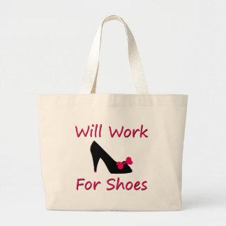 Trabajará para los zapatos bolsa tela grande