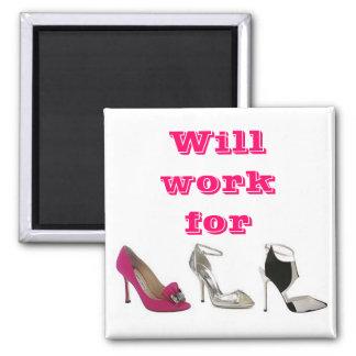 Trabajará para los zapatos imán cuadrado