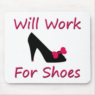 Trabajará para los zapatos mouse pads
