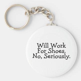 Trabajará para los zapatos ningunos seriamente llaveros