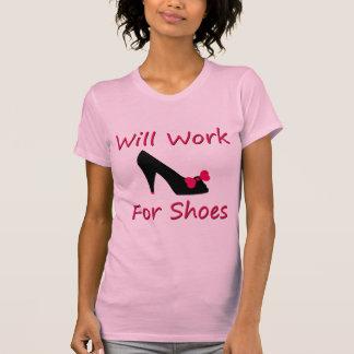 Trabajará para los zapatos t-shirt