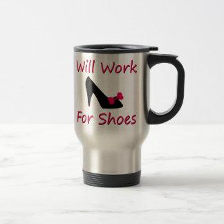 Trabajará para los zapatos taza de viaje