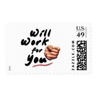Trabajará para usted sello postal