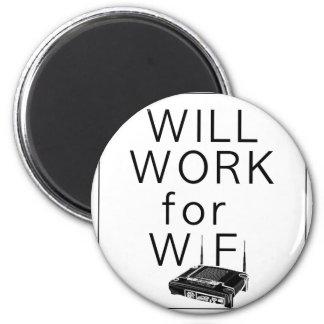 Trabajará para WiFi Imán Redondo 5 Cm