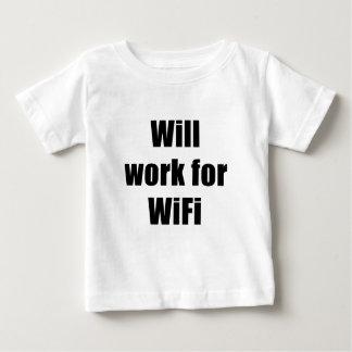 Trabajará para WIfi Playera De Bebé
