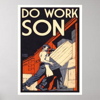 trabaje al hijo posters