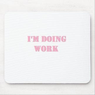 Trabaje el rosa tapete de ratones