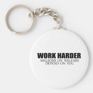 Trabaje más difícilmente porque dependen millones  llavero personalizado