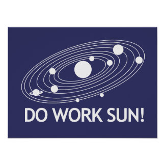 ¡Trabaje Sun! Póster