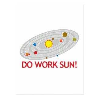 ¡Trabaje Sun! Postal