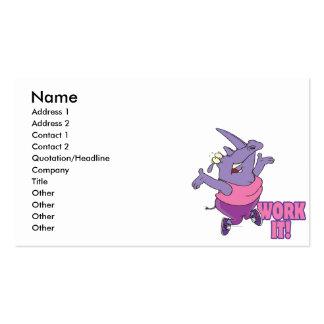 trabájelo rinoceronte divertido del entrenamiento tarjetas de visita