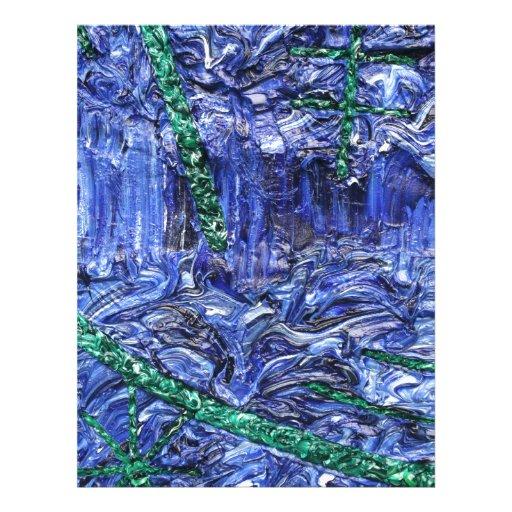 Trabajo abstracto loco azul AW 26 del modelo del d Membrete A Diseño