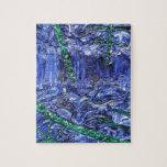 Trabajo abstracto loco azul AW 26 del modelo del d Rompecabeza Con Fotos