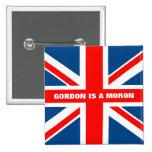 Trabajo anti anti de Gordon Brown Pins