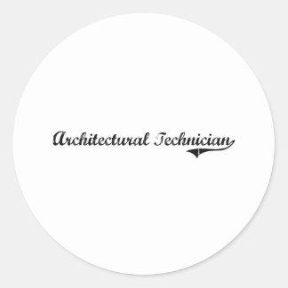 Trabajo arquitectónico del profesional del técnico pegatinas