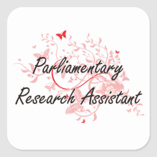 Trabajo artístico parlamentario Desi del asistente Pegatina Cuadrada