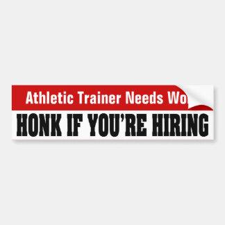 Trabajo atlético de las necesidades del instructor etiqueta de parachoque