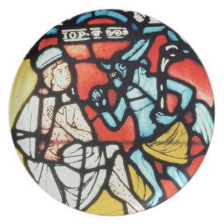 Trabajo atormentado por el diablo, siglo XII (manc Platos De Comidas