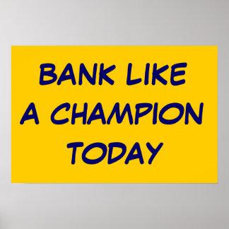 Trabajo como un campeón póster