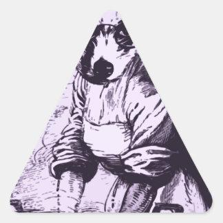 Trabajo como un perro colcomanias triangulo