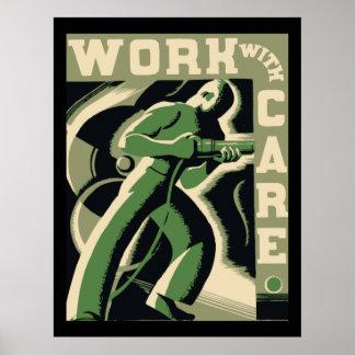 Trabajo con cuidado poster