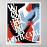 Trabajo con el cuidado WPA 1936 Impresiones