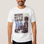 Trabajo con el cuidado WPA 1937 Remeras