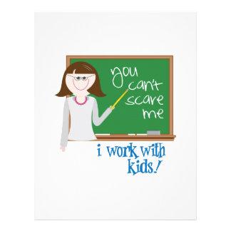 ¡Trabajo con los niños! Membrete Personalizado