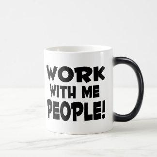 Trabajo conmigo gente tazas de café