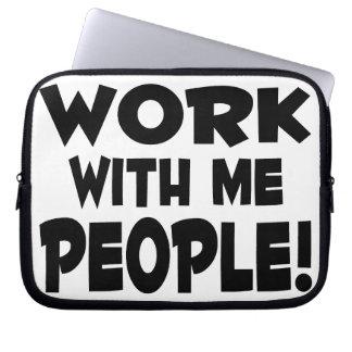 Trabajo conmigo trabajo del equipo de la gente manga portátil