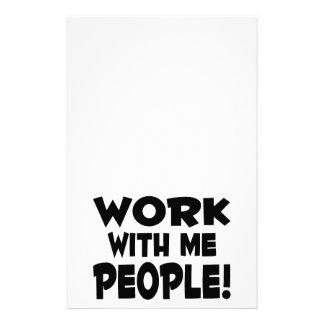 Trabajo conmigo trabajo del equipo de la gente personalized stationery