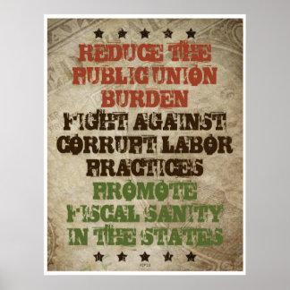 Trabajo corrupto de la lucha póster