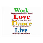 Trabajo, danza del amor, viva postales