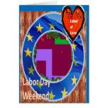 Trabajo de amor en tarjetas de felicitación del fi