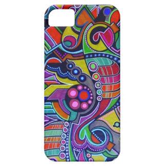 Trabajo de arte colorido, abstracto. hecho a mano funda para iPhone SE/5/5s