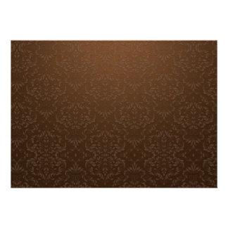 Trabajo de arte creativo en marrón anuncio personalizado