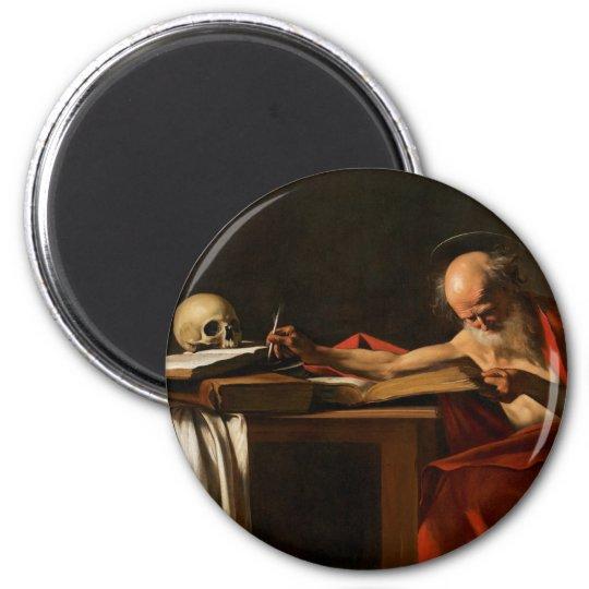 Trabajo de arte de Carvaggio Imán Redondo 5 Cm