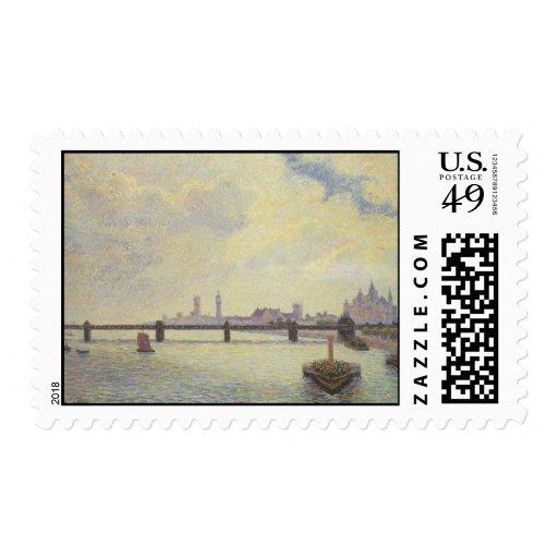 Trabajo de arte de Pissarro Timbres Postales