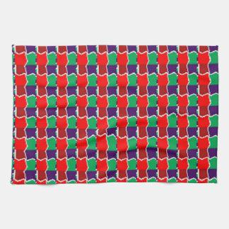 Trabajo de cadena elegante en modelo gráfico verde toalla de mano