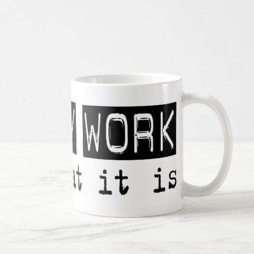 Trabajo de la biblioteca es tazas de café