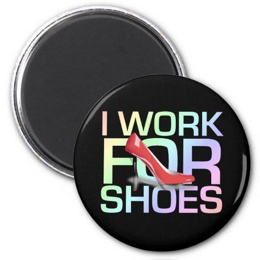 Trabajo de la CAMISETA I para los zapatos Imanes