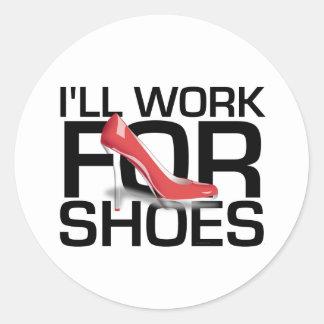 Trabajo de la CAMISETA I para los zapatos Etiqueta Redonda