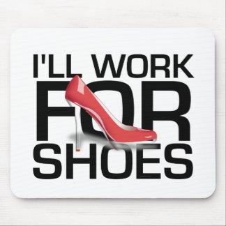 Trabajo de la CAMISETA I para los zapatos Tapete De Ratones
